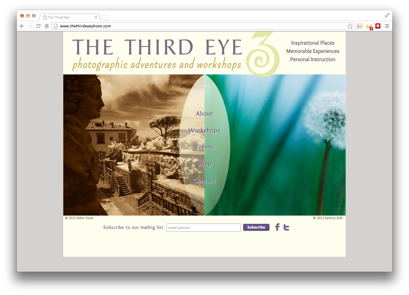 The Third Eye Photo Website Image