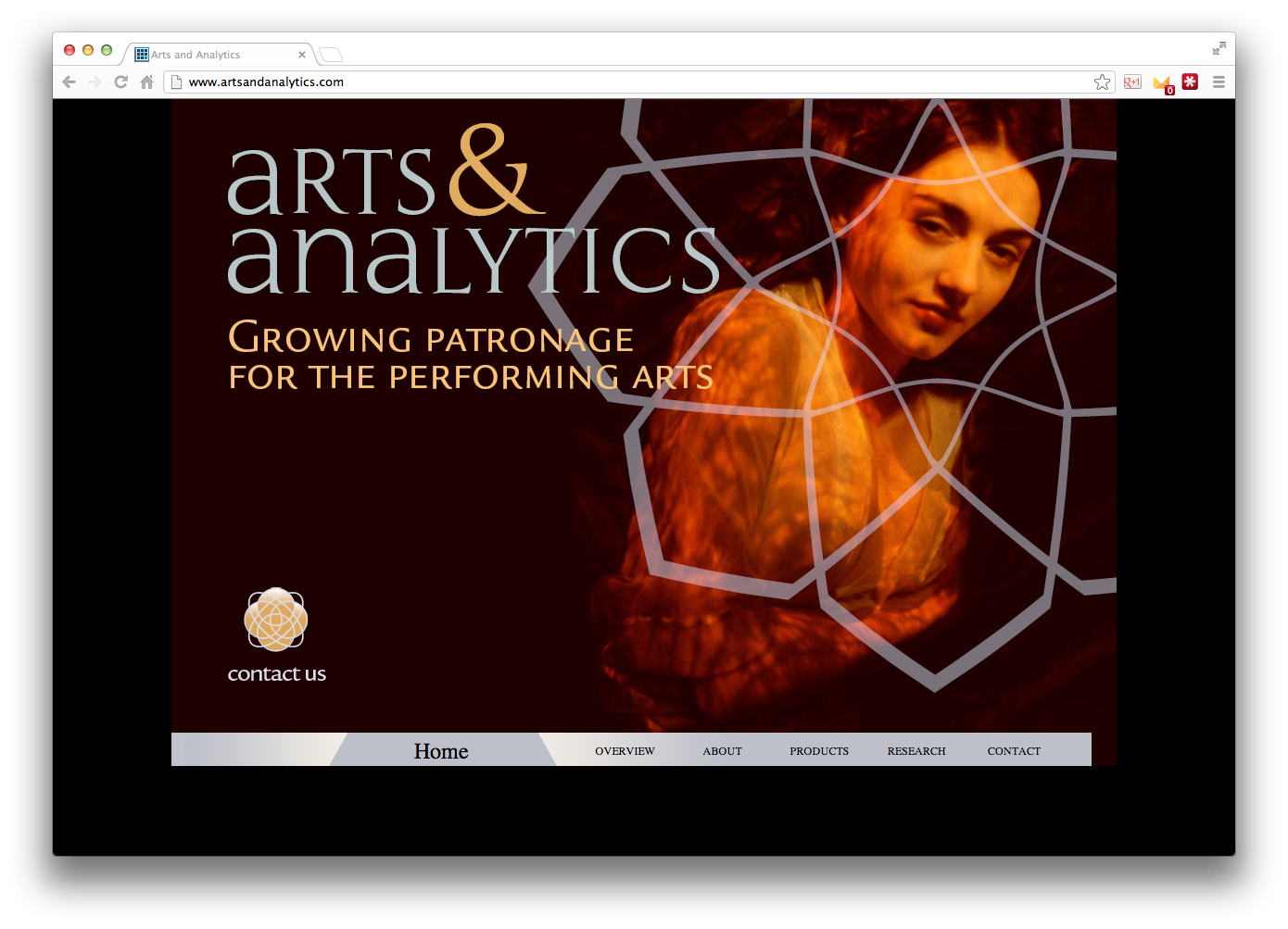 Arts & Analytics Website Image
