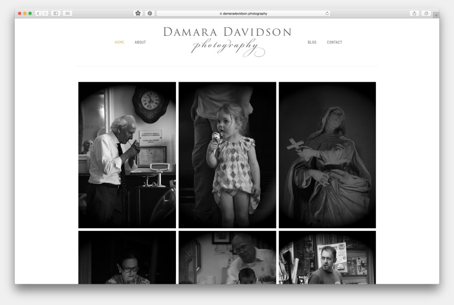 Damara Davidson Photography Website Image