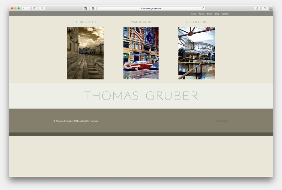 Thomas Gruber Website Image